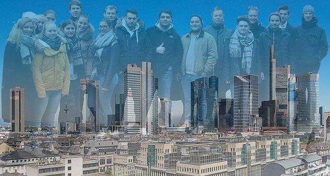 Eine Bankenklasse in Frankfurt
