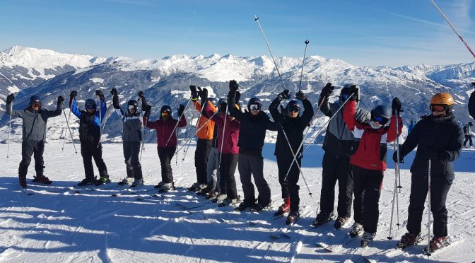 Sportunterricht auf der Skipiste 2019
