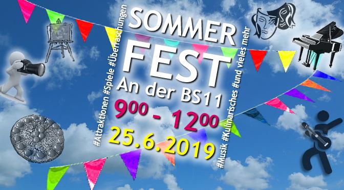 BS11 Sommerfest 2019 | Di., 25.06.2019 | 9:00 – 12:00 h